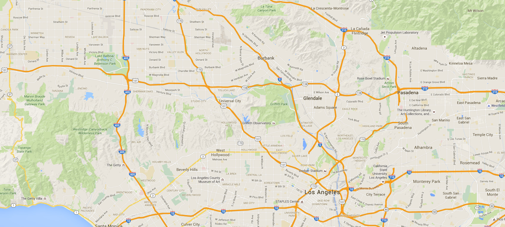 Foreign Currency Exchange Van Nuys, CA, Map